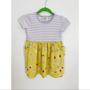 Hanna Andersson Toddler Girls Dress Ice cream